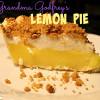 Grandma Godfrey's Lemon Pie
