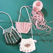Knitted Bead Bag