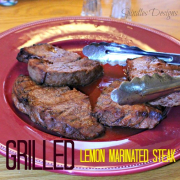 Grilled Lemon Marinated Steak