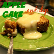 Apple Cake and Dip
