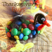 Thanksgiving M&M Turkey Favors