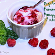 Raspberry-Banana-Pineapple Sherbet