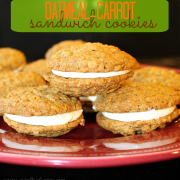 Oatmeal Carrot Sandwich Cookies