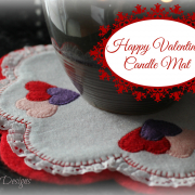 Free Valentine's Candle Mat Pattern