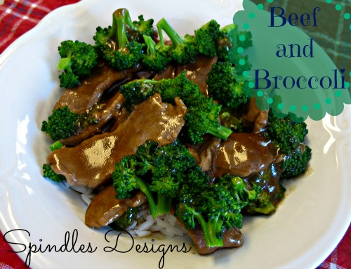Beef and Broccoli with Rice - Spindles Designs by Mary and ...