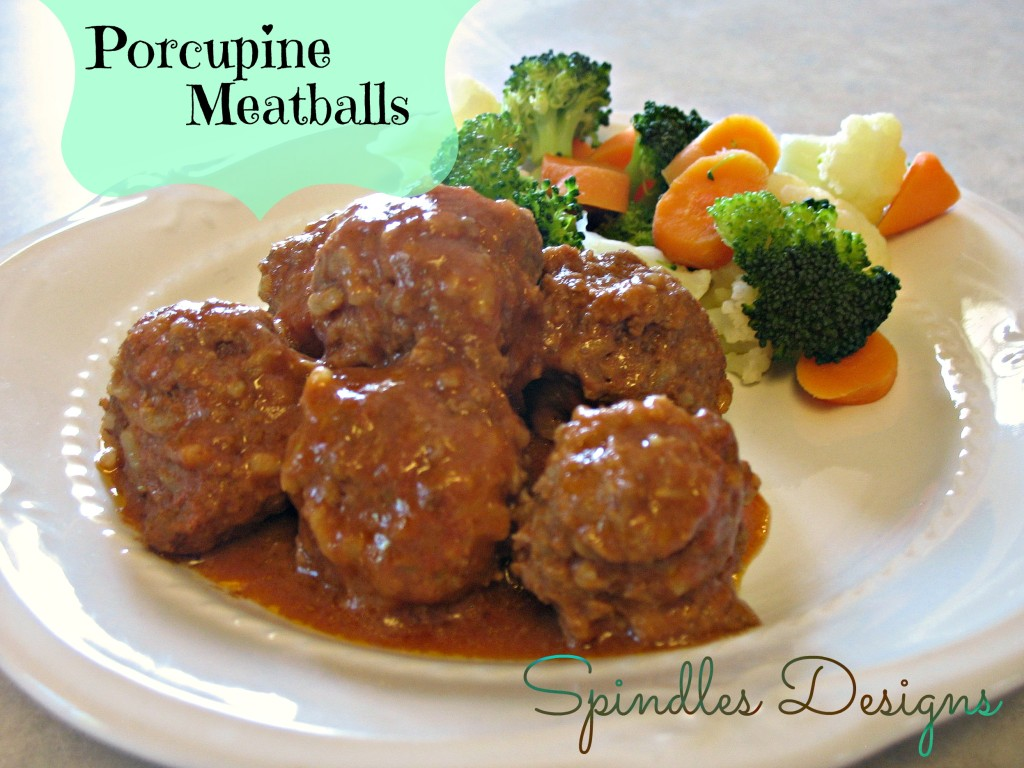 Porcupine Meatballs at www.spindlesdesigns.com
