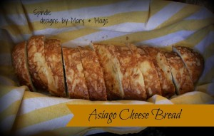 Asiago Cheese Bread at www.SpindlesDesigns.com