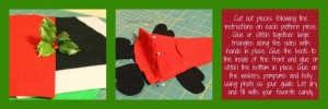 Felt Santa Pattern at www.spindlesdesigns.com