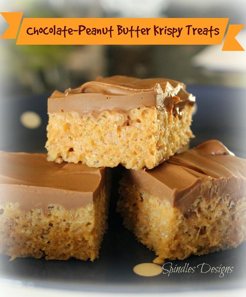 Chocolate-Peanut Butter Krispy Treats - Spindles Designs ...