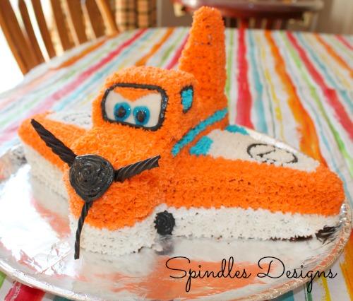 Dusty Airplane Birthday Cake