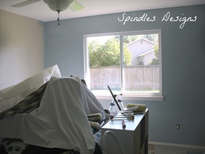 New color for the master bedroom - love it! www.spindlesdesigns.com #paintmasterbedroom