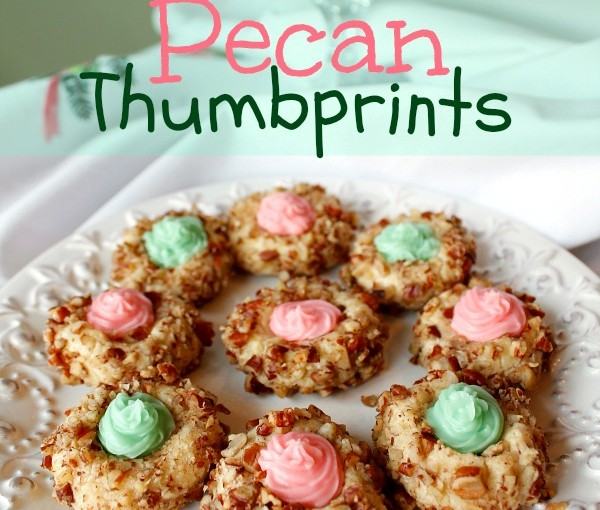Pecan Thumbprints at www.SpindlesDesigns.com
