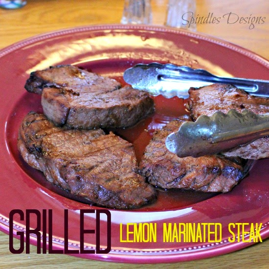 The best of 2014 at Spindles Designs #thebestof2014 #grilledlemonmarinatedsteak