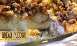 Bread Pudding With Pecan Topping