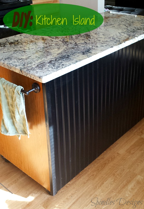 DIY: Kitchen Island at www.SpindlesDesigns.com