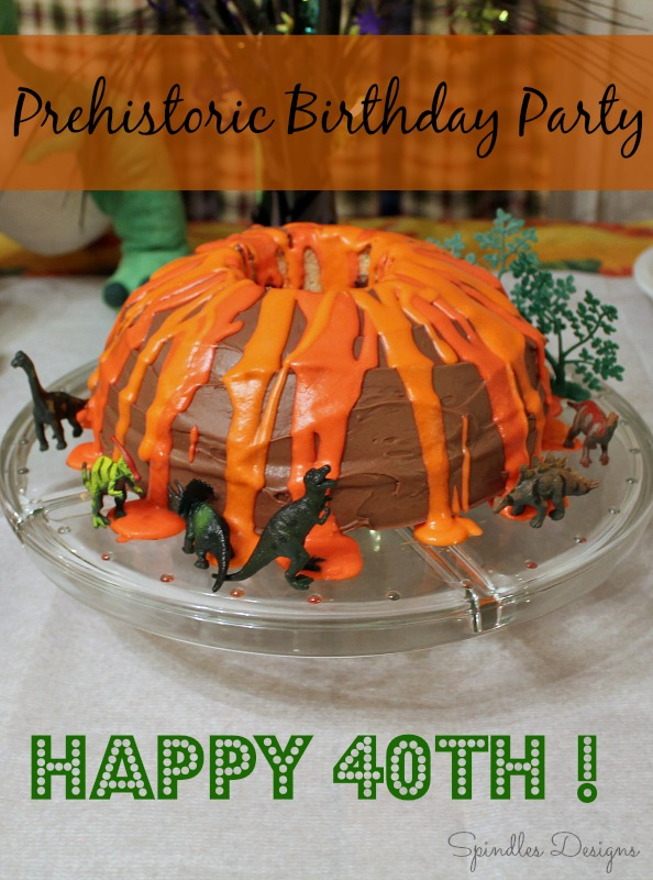 40th Prehistoric but Not Extinct Birthday Party www.spindlesdesigns.com