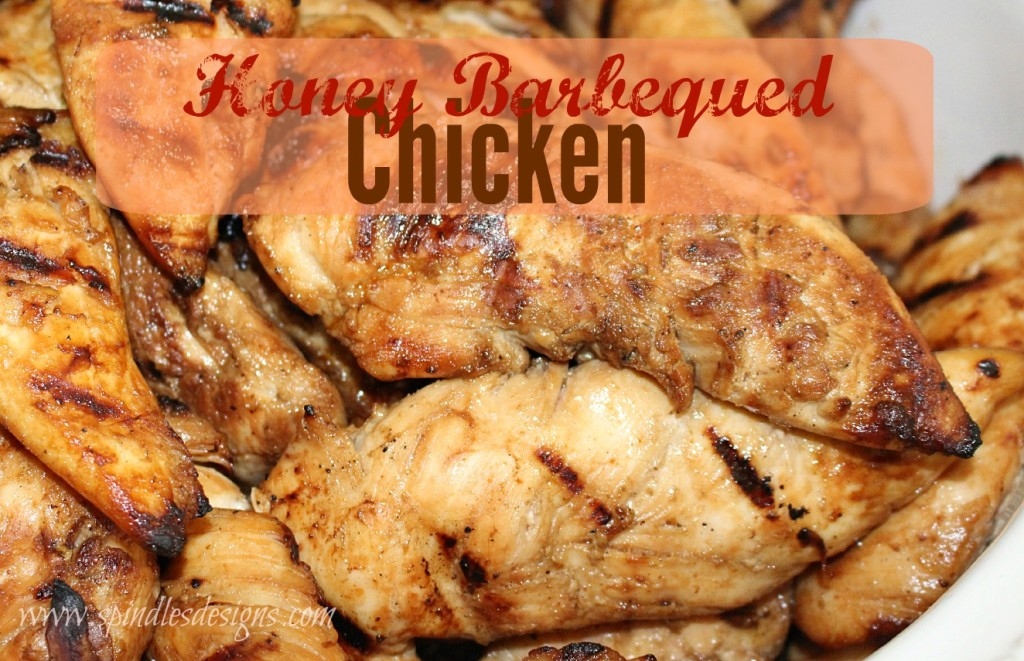 Honey Barbequed Chicken at www.SpindlesDesigns.com