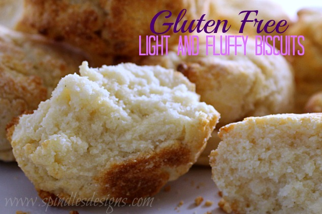 Gluten Free Light and Fluffy Buiscuits at SpindlesDesigns.com