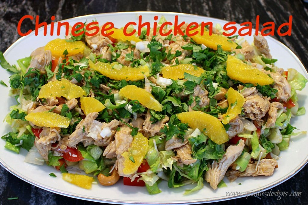 Chinese Chicken Salad at www.SpindlesDesigns.com