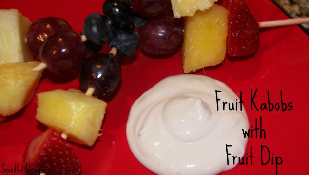 Fruit Kabobs with Fruit Dip